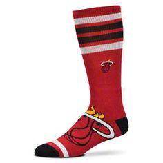 NEW ARRIVAL: Miami Heat Striped Big Logo Socks  http://www.fansedge.com/Miami-Heat-Striped-Big-Logo-Socks-_-570989729_PD.html?social=pinterest_pfid47-35287