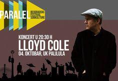 """Jedan od najvećih pop autora na svetu , Lojd Kol (Lloyd Cole) održaće 2. oktobra svoj prvi koncert u Beogradu i to u okviru festivala """"II Paralel – Beogradski Festival Subkulture""""."""