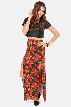 #Lulus                    #Skirt                    #Obey #Love #Scene #Floral #Print #Maxi #Skirt      Obey Love Scene Floral Print Maxi Skirt                                       http://www.seapai.com/product.aspx?PID=1731216