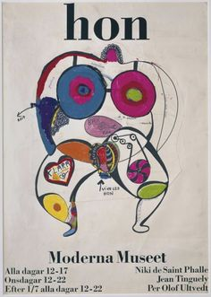 """catrinastewart: """"Niki de Saint Phalle - HON HON was built in the great hall of the Stockholm museum in May 1966. Designed by Niki de Saint Phalle and her husband Jean Tinguely, they chose a walk-in..."""