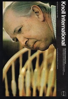 1970 Hans Wegner Photo Knoll International Furniture Designer Vintage Print Ad #Knoll