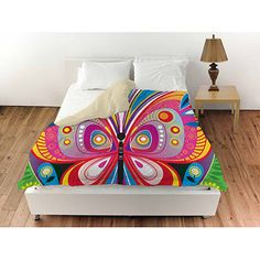 """Thumbprintz Pattern Butterfly Queen Duvet Cover, 88"""" x 88"""""""
