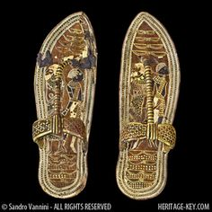 King Tut's 'trample the enemy' Sandals. - Image copyright Sandro Vannini