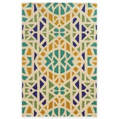 product image for Rizzy Home Bradberry Downs Mosaic Tile Rug in Ivory/Blue or Grey/Blue