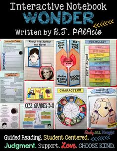 Wonder Lesson Plans Grade Inspirational Wonder by R J Palacio Interactive Reading Notebook Wonder Novel, Wonder Book, 5th Grade Reading, Readers Workshop, Readers Notebook, Interactive Notebooks, Reading Notebooks, Interactive Activities, Book Study