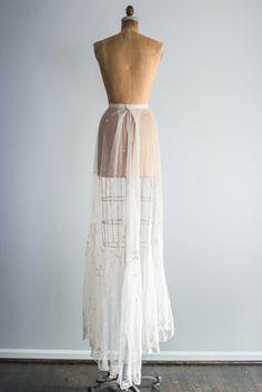 Ivory Edwardian Lace Skirt - S