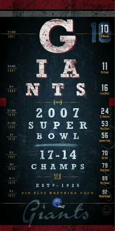 New York Giants 2007 Super Bowl Champions