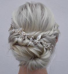 Wedding Low Twisted Bun