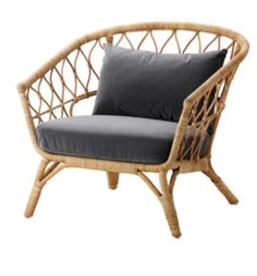 IKEA STOCKHOLM 2017 Armchair with cushion Rattan/sandbacka dark grey You'll keep sitting comfortably thanks to the long-lasting pocket springs that support your body. Cushions Ikea, Seat Cushions, Ikea Stockholm 2017, Ikea Stockholm Chair, Stockholm Sweden, Design Ikea, Rattan Armchair, Ikea Wicker Chair, Rattan Chairs