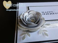 Three tone Rose using the Spiral Flower Die - video tutorial available by Independent Stampin Up Demonstrator Traci Cornelius 3d Paper Crafts, Cornelius, Card Tutorials, Big Shot, Love Cards, Xmas Cards, Rosettes, Stampin Up Cards, Spiral
