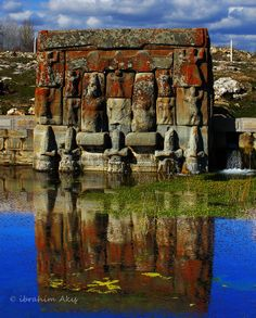 B.C. XIII century  Eflatun Pınar, The spring lies 80 miles west of Konya, and drains into Lake Beyşehir in Anatolian peninsula at ancient Pisidia region. In ancient times a small temple was built here to honor one of the ancient Hittite gods, later interpreted as a shrine to Plato