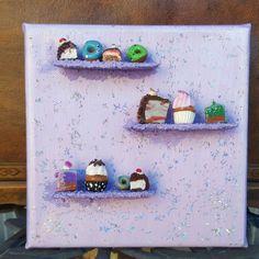 Lecker Leinwand in lila für alle Konditorinnen und Hobbybäckerinnen!Oder für Cupcakeliebhaber und Donutfans!