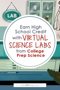 These online science labs are an easy way for homeschoolers to earn high school science credits! High School Science, Homeschool High School, High School Credits, Science Labs, Education, Easy, Onderwijs, Learning