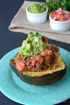 Acorn Squash Tacos #paleo #whole30
