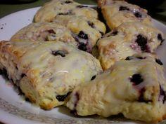 Blueberry Lemon Scones with a Lemon Glaze. Saturdays shouldn't end without scones being made. http://bakingbites.com/2010/04/lemon-blueberry-scones/