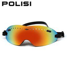 eb280dbb05d POLISI Outdoor Sports Ski Snowboard Goggles UV400 Snowmobile Windproof Eyewear  Children Kids Anti-Fog Snow Skateboard Glasses