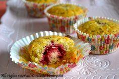 Muffin ai lamponi e semi di papavero #nastrorosa2013 #lilt #bimby