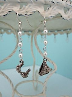 Silver Bikini Earrings by playsculptlive, $21.00