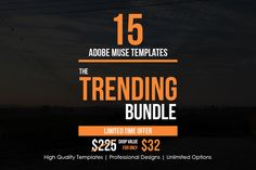 The Trending Adobe Muse Bundle by Creative Slides on @creativework247