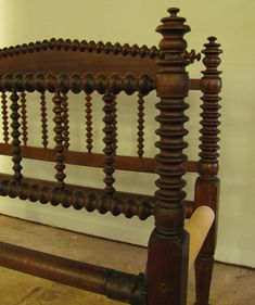 A Fine Example Of Jenny Lind Or Spool Bed Room About 1850 This