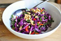 Asian Cabbage Slaw with Basil Ginger Dressing   Tasty Kitchen: A Happy Recipe Community!