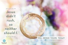 "Proverbs 31 Ministries and Fashion & Compassion have partnered together again to present the Unrush Me Pendant! Don't get trapped in the never-ending ""circle"" of a rushed life. Reset your life to the rhythm of connection & compassion as you wear the Unrush Me Pendant. It's a simple way to be reminded of our simple three-word prayer, ""Lord Unrush Me...""  