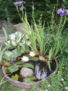 31 Awesome Mini Ponds To Complete Your Outdoor Décor - DigsDigs