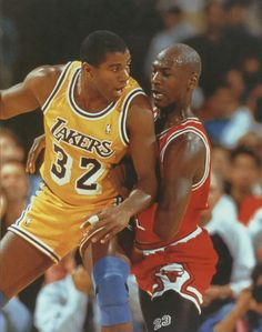 Magic Johnson and Michael Jordan Basketball Sachen 1c4a597a8