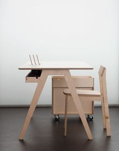 The Olivia Desk, Roxanne Chair & Mobile Storage for http://opendesk.cc