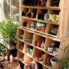 Great ideas for shelves | Garden cubbies | Sunset.com