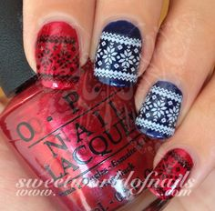 Black and White Christmas Nail Art Water Decals Transfers Wraps