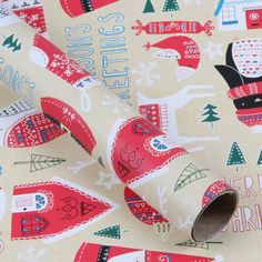 Christmas illustration inspiration Hand-drawn Christmas 3m roll wrapping paper