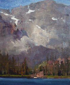 "Sardine Lake by Simon Addyman Oil ~ 16"" x 12"""