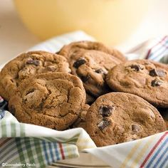 Gooseberry Patch Recipes: Giant Chocolate Malt Cookies. These giant cookies have all the wonderful taste of your favorite chocolate malt, only in cookie form