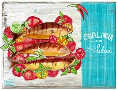 Illustrations about my food! (New Blog Project) on Behance