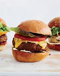 These luscious burgers get flavor from horseradish, hot sauce and Worcestershire sauce. Get the recipe at Food & Wine.
