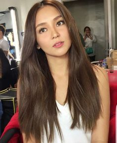 Are you searching for hair care tips? Korean Hair Color Brown, Brown Hair Korean, Hair Color Asian, Hair Color Dark, Brown Hair Colors, Kathryn Bernardo Hairstyle, Hair Color For Morena Skin, Dyed Hair Purple, Filipina Beauty
