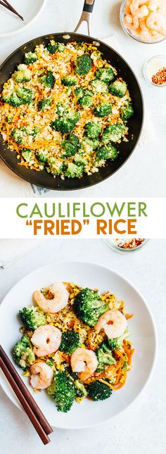 This cauliflower fried rice has the texture and flavor you crave from traditional fried rice, but it's loaded with veggies, high in fiber and low in carbs. Serve with your favorite protein for a nourishing, paleo-friendly meal.