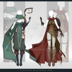 (CLOSED) Adoptable Outfit Auction 262-263 by JawitReen.deviantart.com on @DeviantArt