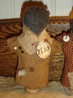 Primitive Pin Keep Doll-I bought this from Wendy on Artfire!! LOVE!! XO