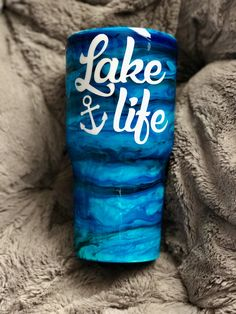Alcohol ink tumbler, lake life Vinyl Tumblers, Custom Tumblers, Custom Mugs, Glitter Cups, Glitter Tumblers, Coffee Theme, Yeti Cup, Tumbler Designs, Personalized Cups