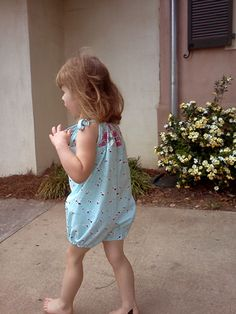 Free Pattern Download by Create Kids Couture - Hannah's Pillowcase Bubble Romper