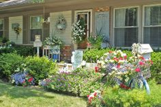 I love to use vintage pieces such as my old bike in my garden. I love… :: Hometalk