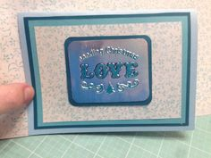 Front of 3d card. Glue foil onto card stock, emboss, then colour