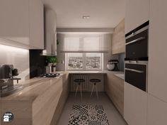 U Shaped Kitchen Interior, Modern Kitchen Interiors, Kitchen Room Design, Kitchen Dinning, Home Decor Kitchen, New Kitchen, Luxury Kitchens, Home Kitchens, Scandinavian Kitchen
