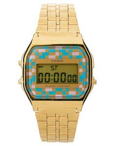 3fd5bfcefc6 Casio Digital Bracelet Watch A159WGEA-4AEF