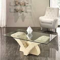 tavolino | illuminazione | pinterest | center table - Couchtische Stein Fossilstein Modern Design