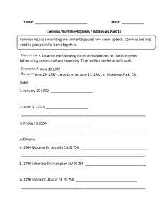 writing addresses correctly worksheet