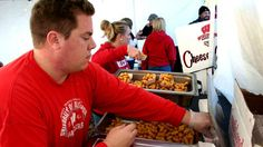 The cheese curds at the University of Wisconsin's Badgers stadium are made from the best local Wisconsin cheeses. The crispy and crunchy curds are positively addictive.