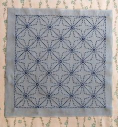 Sashiko -- beautiful embroidery with traditional patterns and a tutorial to get you started with this meditative, relaxing textile art.